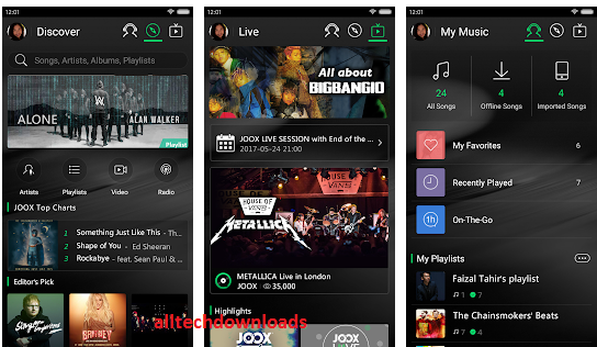 Features of Joox Music App For PC