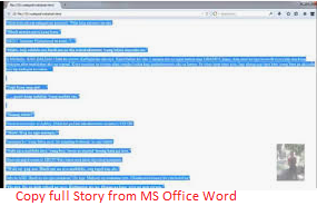 Copy full Story from MS Office