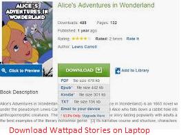 Download Wattpad story on laptop
