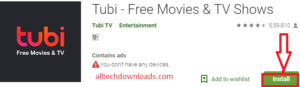 Install Tubi TV for PC