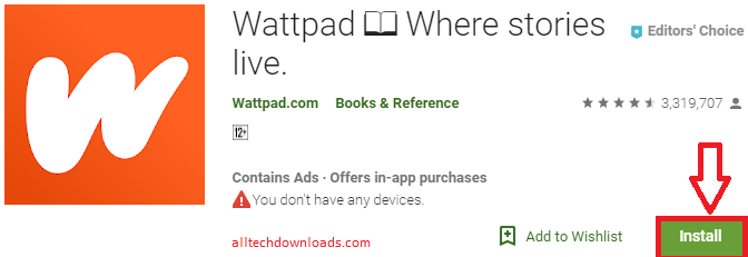 Install WattPad For PC