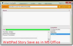 save wattpad story on MS office