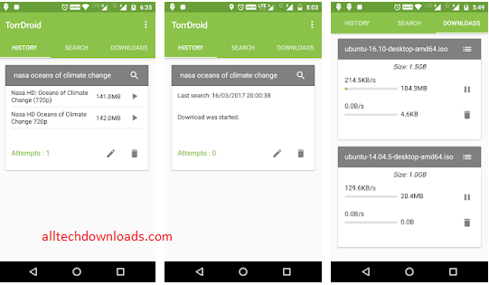 features of TorrDroid For PC