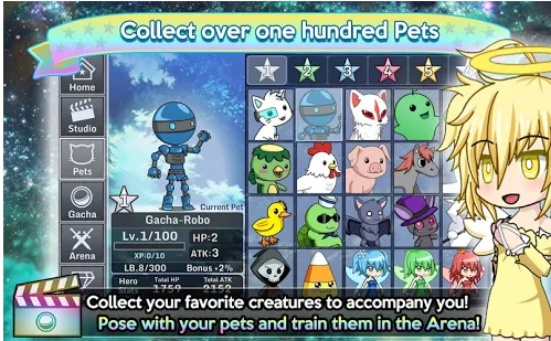 collect over 100 pets in the arena