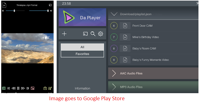 features of da player for pc