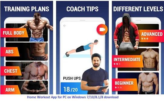features of home workout app for pc