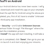 TeaTV For PC Windows 10/7/8/8.1/XP/Vista & Mac Free Download