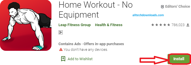 install home workout app for pc
