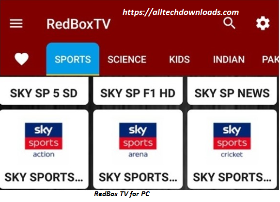 features of RedBox TV for PC