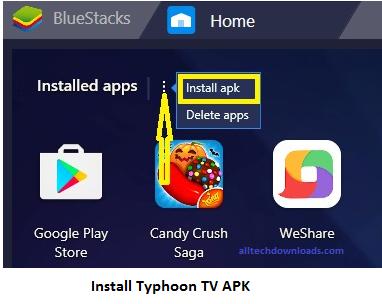 install typhoon tv apk