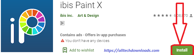 install ibis paint x for pc