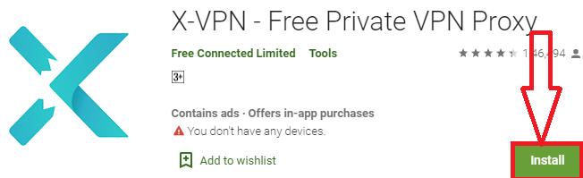install x-vpn for pc