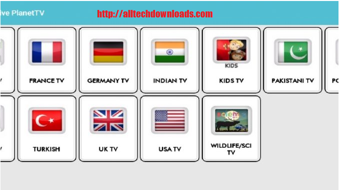 feature of live planet tv for pc