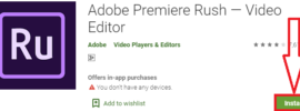 install adobe premiere rush for pc