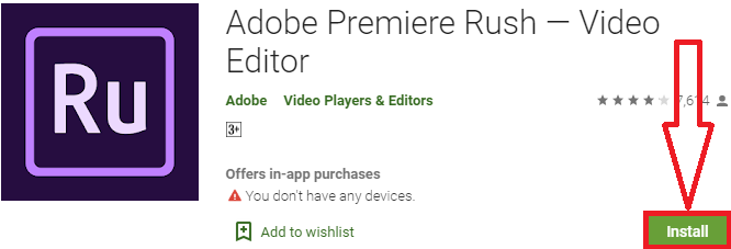 install adobe premiere rush for pc