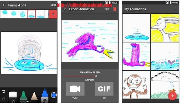 feature of animatic by inkboard for pc