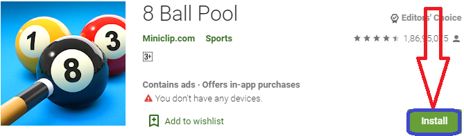 install 8 ball pool for pc