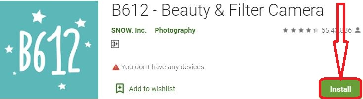 install b612 for pc