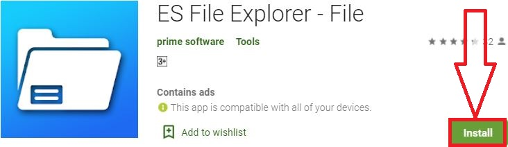 install es file explorer for pc