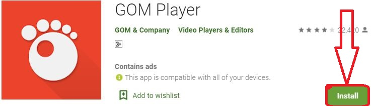 install gom player for pc