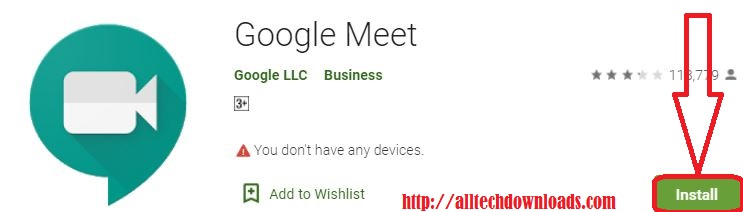 install google meet for pc