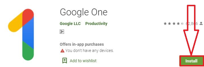 install google one for pc