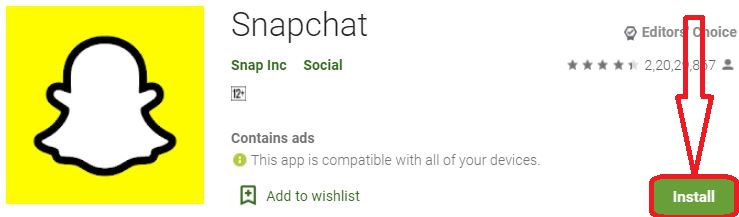 install snapchat for pc