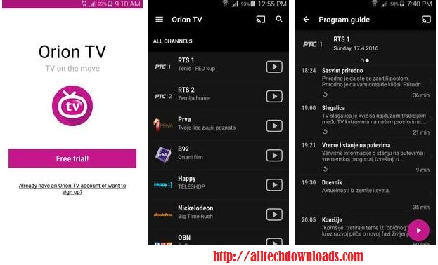 orion tv for pc