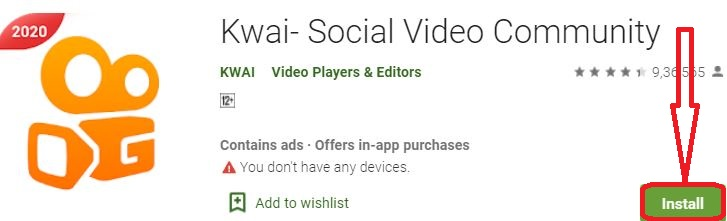 install kwai for pc