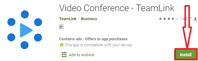 install video conference- teamlink for pc