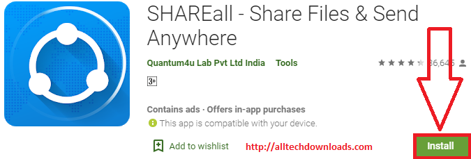 install SHAREall for PC