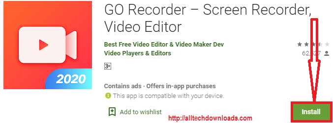 install go recorder for pc