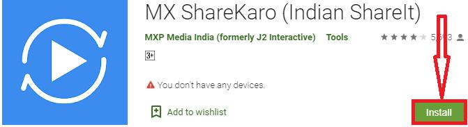 install mx sharekaro for pc