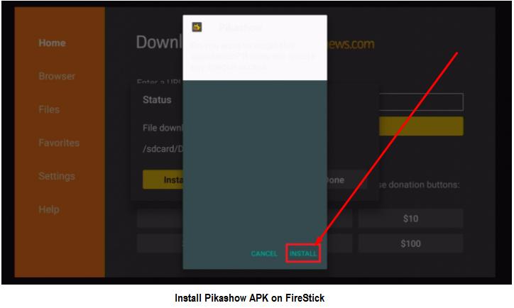 install Piakshow APK on firestick