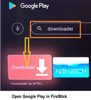 open google play store in fire tv