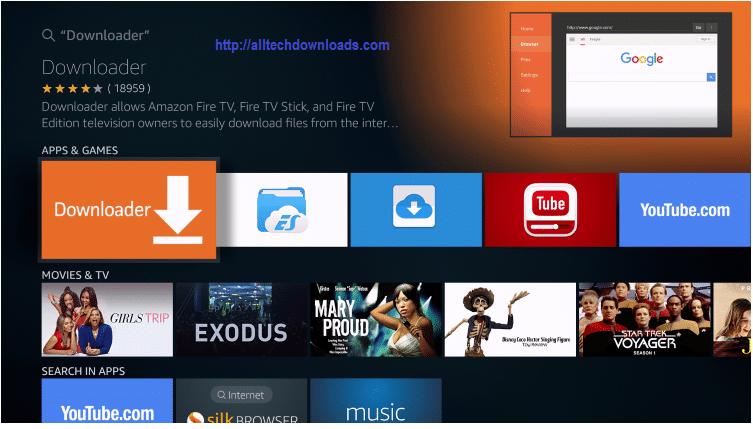 search downloader app on firestick